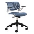Modern Plastic Task Chair with Arms, 50884