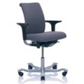 Modern Fabric Ergonomic Mid Back Task Chair, 52386