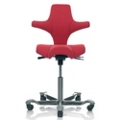 Saddle Seat and Back Fabric Ergonomic Task Chair, 52389
