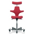 Saddle Seat and Back Fabric Ergonomic Task Chair with Headrest, 52390