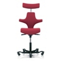 Saddle Back Fabric Ergonomic Task Chair with Headrest, 52391