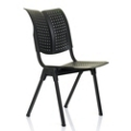 Self Leveling Plastic Armless Stack Chair, 52392