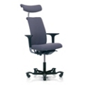 Modern Fabric Ergonomic High Back Task Chair with Headrest, 52396