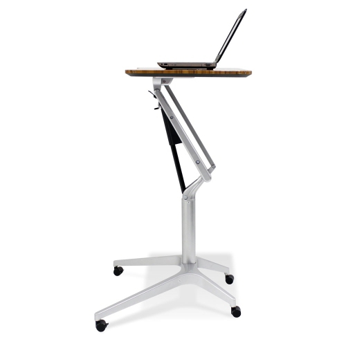 Unique Furniture Adjustable Height Mobile Laptop Stand Cherry Laminate