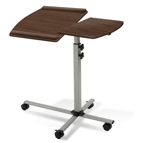 Unique Furniture Adjustable Height Laptop Stand and Reading Table Espresso Laminate