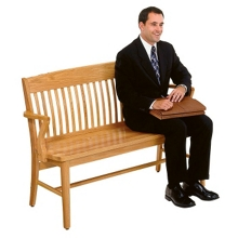 "Wood Bench - 53"" W, 57045"