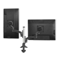 Double Monitor Desk Mount with Manual Height Adjustable Column , 60064