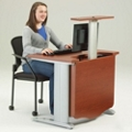 "48"" Wide Desk with Monitor Lift, 60953"