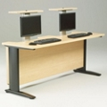 "72"" Wide Desk with Dual Monitor Lifts, 60955"