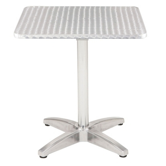"Square Stainless Steel Outdoor Table - 32""W x 32""D, 41455"
