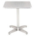 "Bar Height Square Stainless Steel Outdoor Table - 32""W x 32""D, 41456"