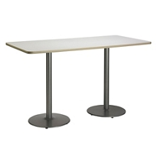 "Bar Height Two-Pedestal Table with Round Base - 72""W x 36""D, 41946"