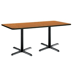 "Two-Pedestal Table with X-Base - 72""W x 30""D, 41947"