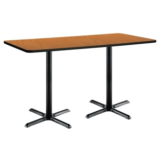 "Bar Height Two-Pedestal Table with X-Base - 72""W x 30""D, 41948"