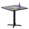 "30""W  Square X-Base Breakroom Table, 41997"
