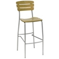Slatted Wood Breakroom Stool, 44695