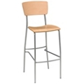 Solid Wood Breakroom Stool, 44697
