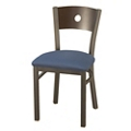 Cafe Chair with Fabric Seat and Circular Cut-Out, 44702