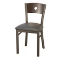 Cafe Chair with Vinyl Seat and Circular Cut-Out, 44701