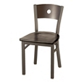 Wood Cafe Chair with Circular Cut-Out, 44700