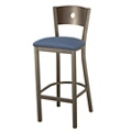 Barstool with Fabric Seat and Circular Cut-Out, 44705