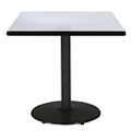 "Square Table with Black Base - 30""W x 30""D, 44706"