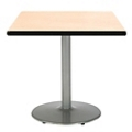 "Square Table with Silver Base - 30""W x 30""D, 44707"
