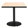 "Square Table with Black Base - 36""W x 36""D, 44710"