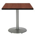 "Square Table with Silver Base - 42""W x 42""D, 44715"