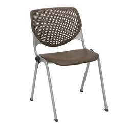 Perforated Back Poly Stack Chair with 400 lb. Capacity, 51377