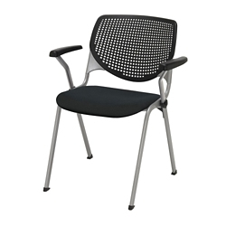 Perforated Poly Back and Upholstered Seat Stack Chair - 400 lb. Capacity, 51379