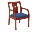 Designer Back Chair with Wood Frame, 55580