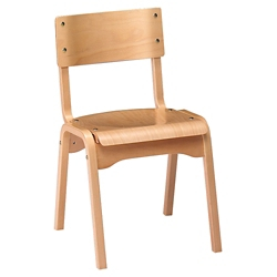 "Wood Stack Chair - 18""H Seat, 57050"