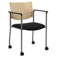 Mobile Wood Back Guest Chair, 76021