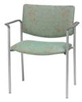 Armless Upholstered Back Extra Wide Guest Chair , 76272