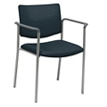 Mobile Upholstered Back Guest Chair with Arms, 76274