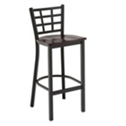 Cafe Stool with Wood Seat, CD04271