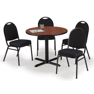 """36"""" Breakroom Table and Fabric Chair Set, 44395"""