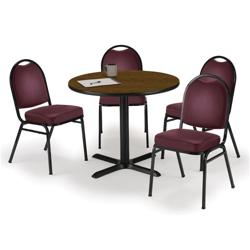 "36"" Breakroom Table and Vinyl Chair Set, 44394"