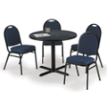 "42"" Breakroom Table and Fabric Chair Set, 44393"