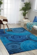 kathy ireland by Nourison Circle Print Area Rug - 5'W x 7.5'D, 82192