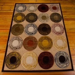 """kathy ireland by Nourison Circle Pattern Area Rug 9'12""""W x 12'D, 82221"""