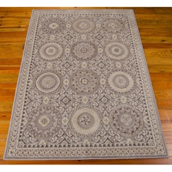 """kathy ireland by Nourison Ornate Circle Pattern Area Rug 5'3""""W x 7'5""""D, 82228"""