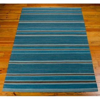"kathy ireland by Nourison Striped Area Rug 8'W x 10'6""D, 82231"