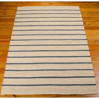 "kathy ireland by Nourison Striped Jute Area Rug 5'W x 7'6""D, 82246"