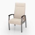 Vinyl Patient Chair with Wood Arm Caps, 26221