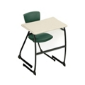 "Student Desk with Cantilever Base - 27"" H, 13800"