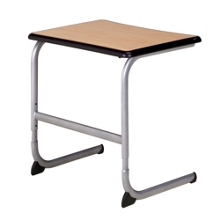 "Adjustable Cantilever Base Student Desk with Faux Wood Laminate Top 26""W, 13922"