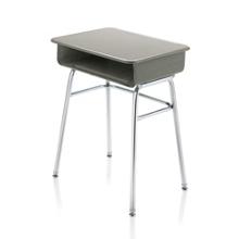 """Plastic Top Adjustable Height Open Front Student Desk - 24""""W x 18""""D, 13924"""
