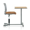 Slotted Poly Student Chair Desk with Rectangular Work Surface, 13982